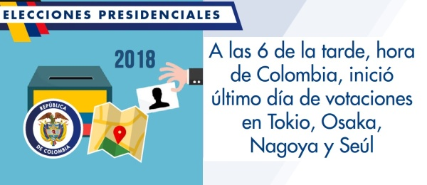 A las 6 de la tarde, hora de Colombia, inició último día de votaciones en Tokio, Osaka, Nagoya y Seúl