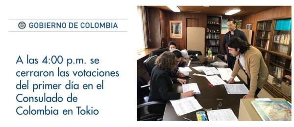 A las 4:00 p.m. se cerraron las votaciones en el Consulado de Colombia