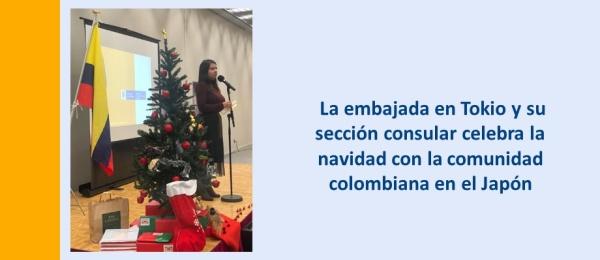 La embajada en Tokio y su sección consular celebra la navidad con la comunidad colombiana