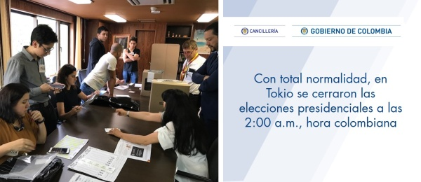 Con total normalidad, en Tokio se cerraron las elecciones presidenciales a las 2:00 a.m., hora colombiana